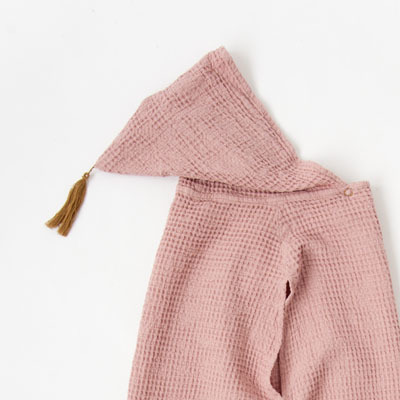 *NUMERO 74 PONCHO キッズ ワッフルポンチョ(S007 DUSTY PINK)1(1-4A)