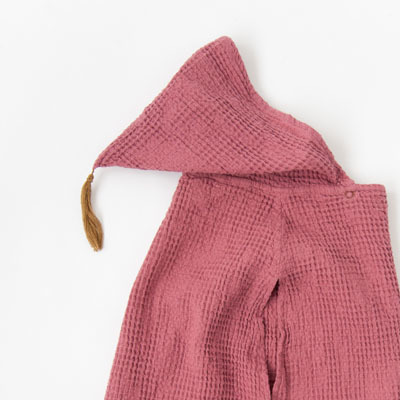 NUMERO 74  PONCHO キッズ ワッフルポンチョ(S042 BAOBAB ROSE)2(5-8A)
