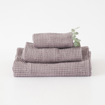 NUMERO 74  SET OF TOWELS ワッフルタオルセット(S041 DUSTY LILAC)