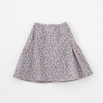 *CARAMEL 2018SS キッズ JUPIA SKIRT リバティ ラップ風スカート(S18BR レッド)8A-10A