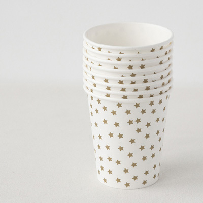 MY LITTLE DAY Cup 8pcs Gold Stars ペーパーカップ